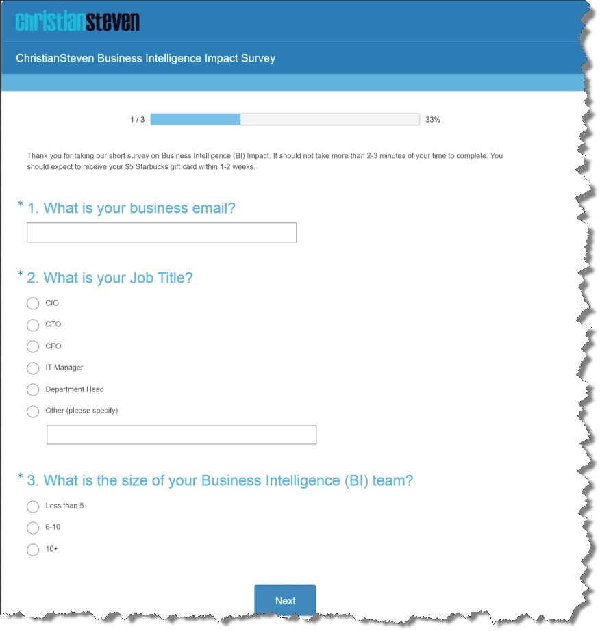 Business Intelligence Survey