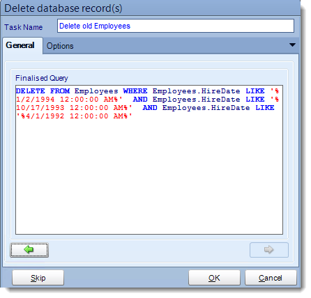 Crystal Reports: Delete a record tasks in CRD.
