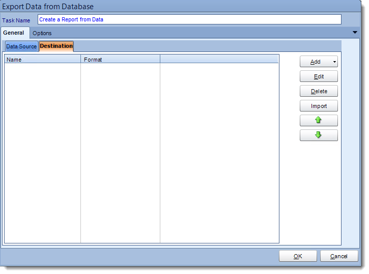 Crystal Reports: Export data to a report tasks in CRD.