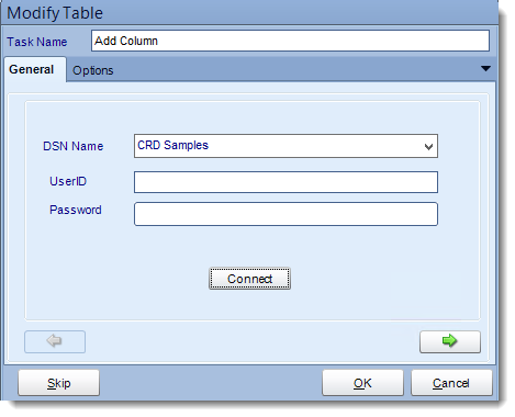 Crystal Reports: Add column to table tasks in CRD.