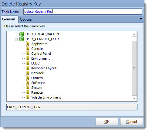 Crystal Reports: Delete Key task in CRD.