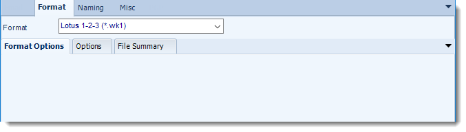 MS Access: Lotus 1-2-3 output format options in MARS
