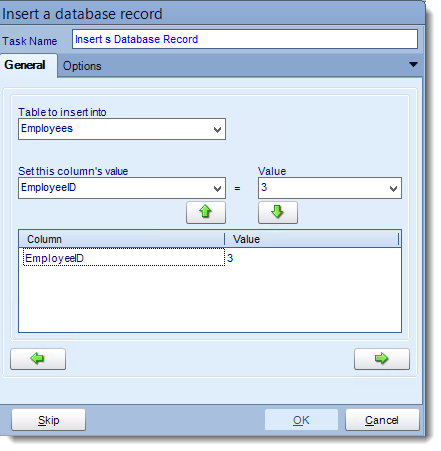 Crystal Reports: Insert a record tasks in CRD.