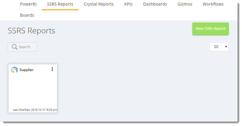 KPI's and Dashboards: SSRS Reports in IntelliFront BI.