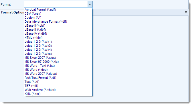 SSRS. Output Formats in SQL-RD
