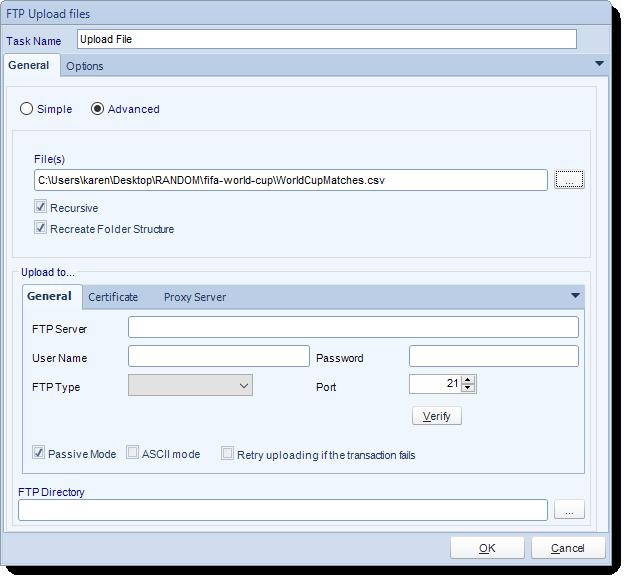 SSRS. Custom Task: FTP-Upload File in SQL-RD