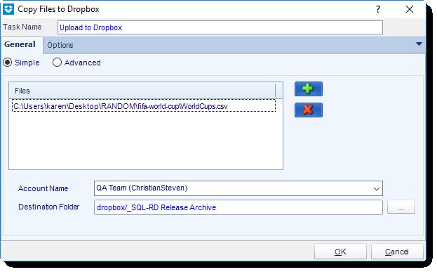 SSRS. Custom Task: Cloud Storage - Copy Files to Dropbox in SQL-RD