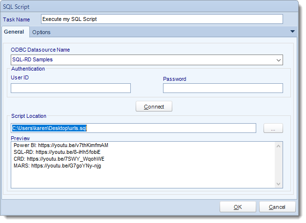 SSRS. Custom Tasks: Execute SQL Script in SQL-RD