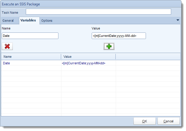 MS Access. Custom Tasks: Execute an SSIS Package in MARS.