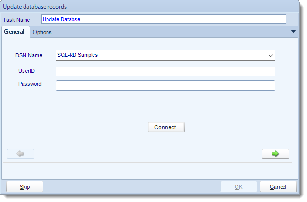 SSRS. Custom Tasks: Update a record in SQL-RD
