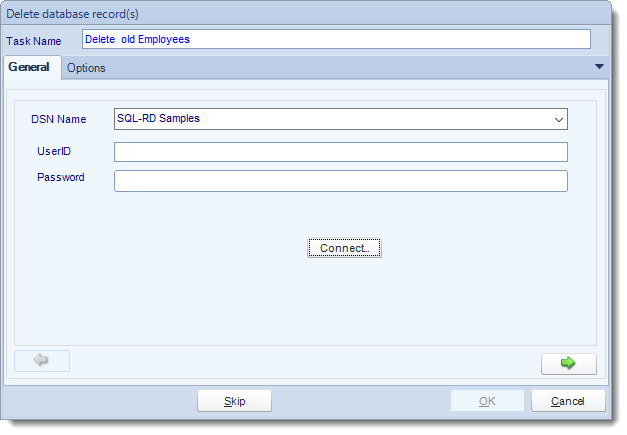 SSRS. Custom Tasks: Delete a record in SQL-RD