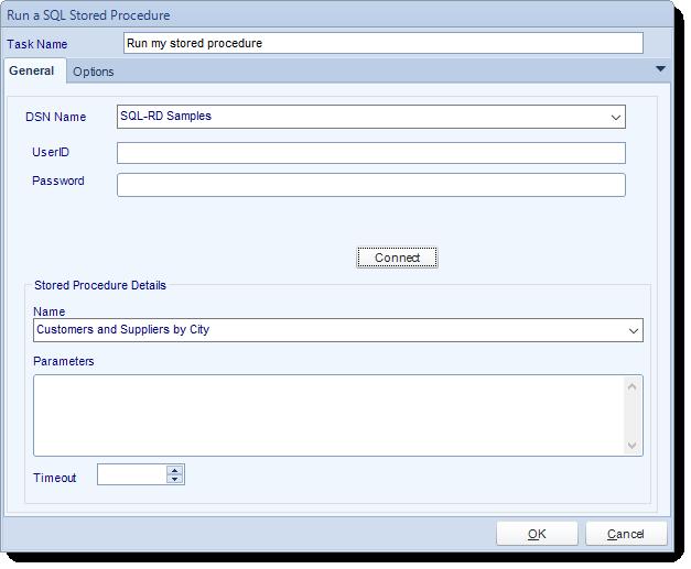 SSRS. Custom Tasks: Run a stored procedure in SQL-RD