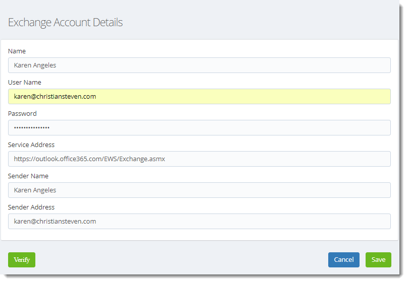 KPI's and Dashboards: Exchange Accounts in IntelliFront BI.