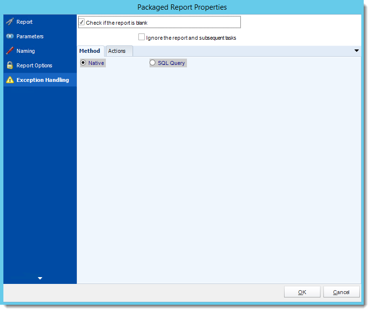 Crystal Reports: Package Report Properties in Dynamic Package Schedule Reports in CRD.