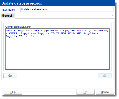 Crystal Reports: Update a record in CRD.