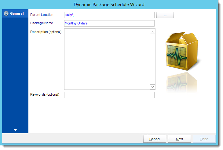 Crystal Reports: General Wizard in Dynamic Package Schedule Reports in CRD.