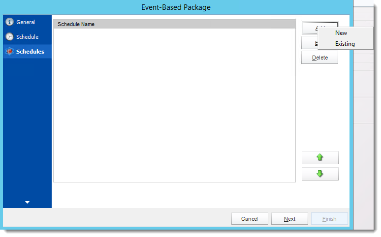 Crystal Reports: Schedules Wizard in Event Based Package in CRD.