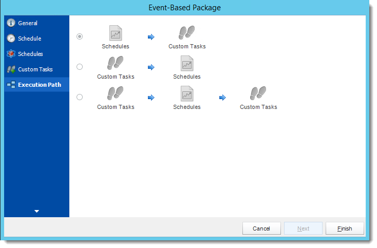 Crystal Reports: Execution Path Wizard in Event Based Package in CRD.