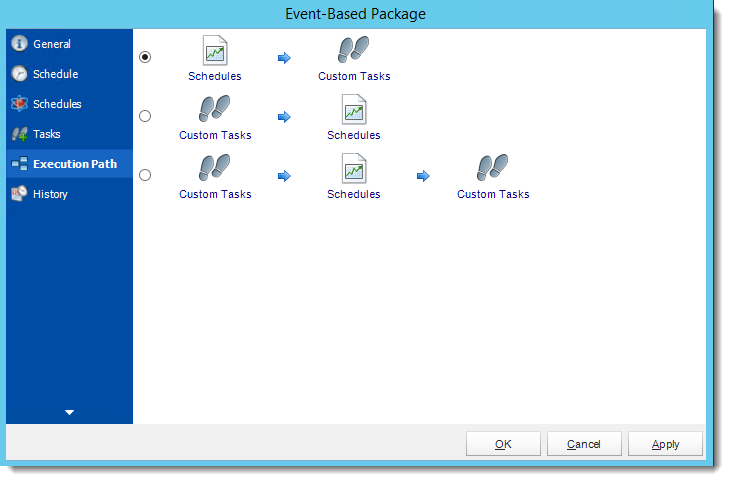 Crystal Reports: Event Based Package Properties Wizard in CRD.