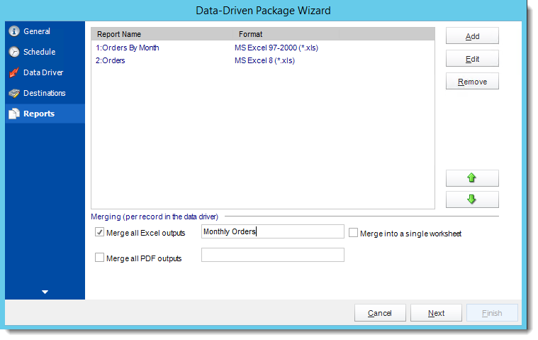 Crystal Reports: Reports Wizard in Data Driven Package in CRD.