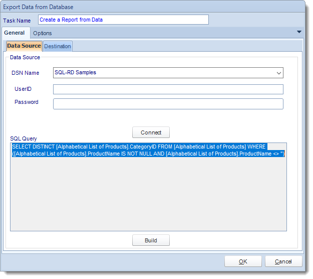 SSRS. Custom Tasks: Export data to a report in SQL-RD