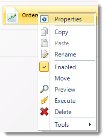 SSRS. Single Report Schedule Context Menu in SQL-RD.