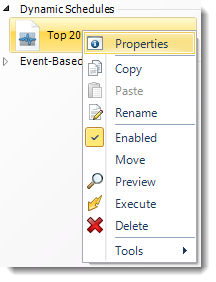 SSRS. Dynamic Report Schedule Context Menu in SQL-RD