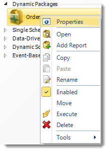 SSRS. Dynamic Package Report Schedule Context Menu in SQL-RD