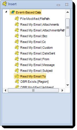 SSRS. Event based data insert menu in SQL-RD
