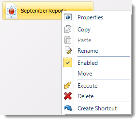 SSRS. Event Based Schedule Context Menu in SQL-RD