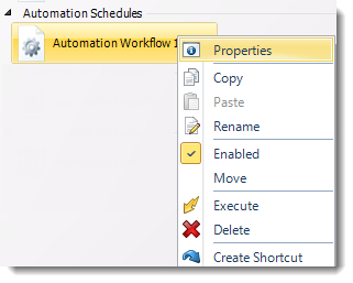 SSRS. Automation Schedule Context Menu in SQL-RD.