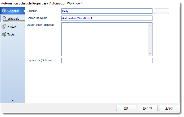 SSRS. Automation Schedule Properties Wizard in SQL-RD.