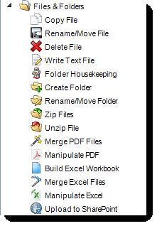 MS Access: File & Folders Tasks in MARS.