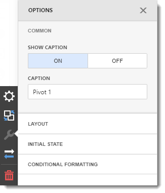 CKPI's and Dashboards: Creating Pivot Table Dashboard item in IntelliFront BI.