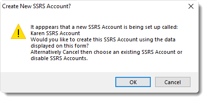 SSRS. Creating New SSRS Account in SQL-RD.