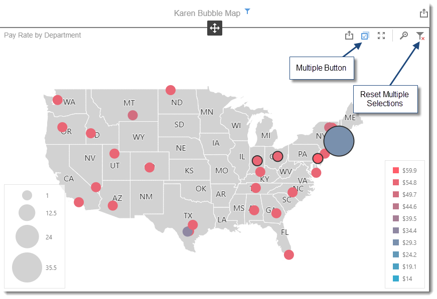 KPI's and Dashboards: Creating Bubble Map Dashboard item in IntelliFront BI.