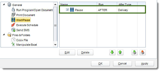 MS Access: Default Tasks section in Options in MARS.