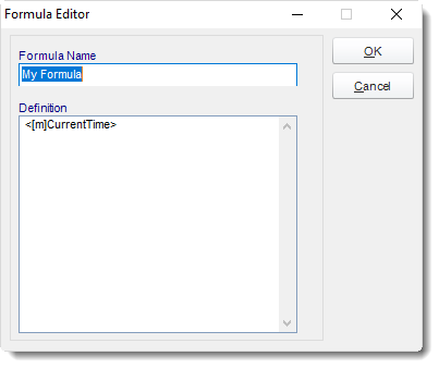MS Access: User Defined constant Formula Editor in MARS.
