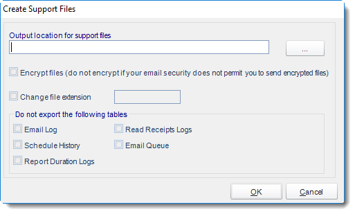 MS Access: Create Support Files in MARS.