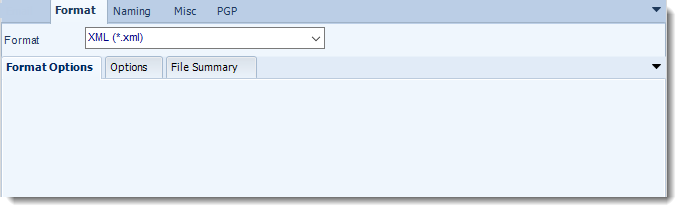 MS Access: XML output format options in MARS.