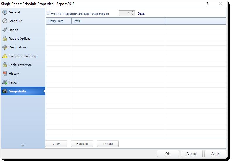 MS Access: Single Report Schedule Properties in MARS.