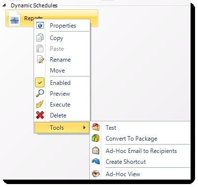 MS Access: Dynamic Schedule Context Menu in MARS.
