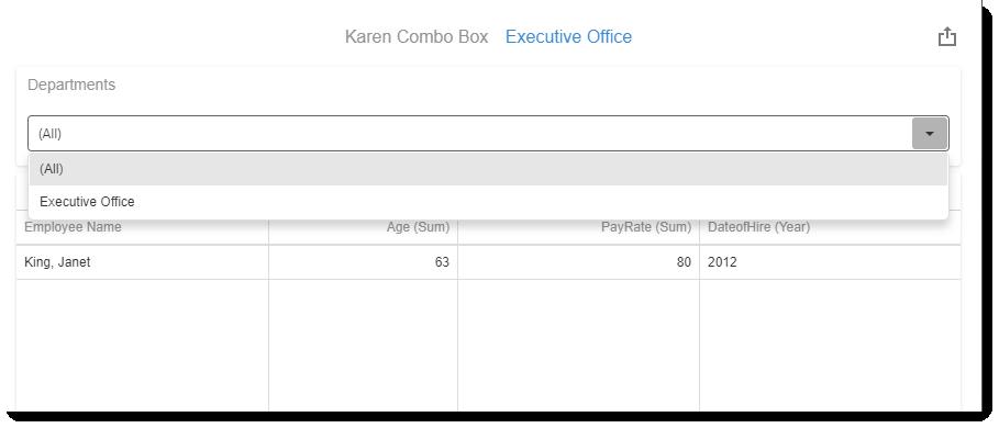 KPI's and Dashboards: Creating Combo Box Visual Dashboard item in IntelliFront BI.