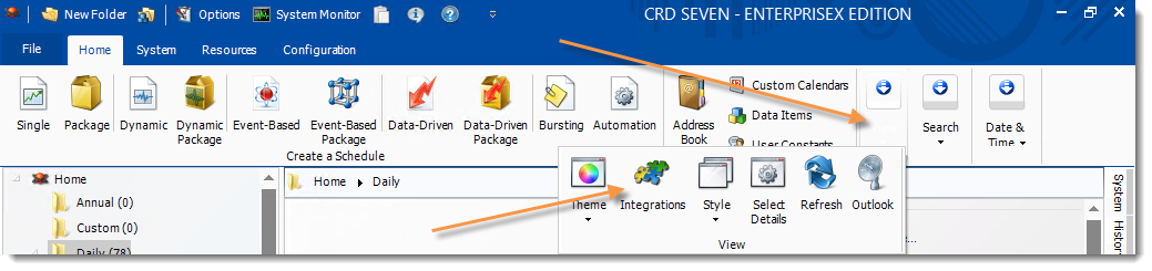 Crystal Reports: CRD Home Screen.