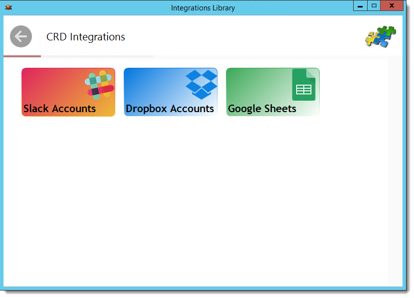 Crystal Reports: Integrations Library in CRD.