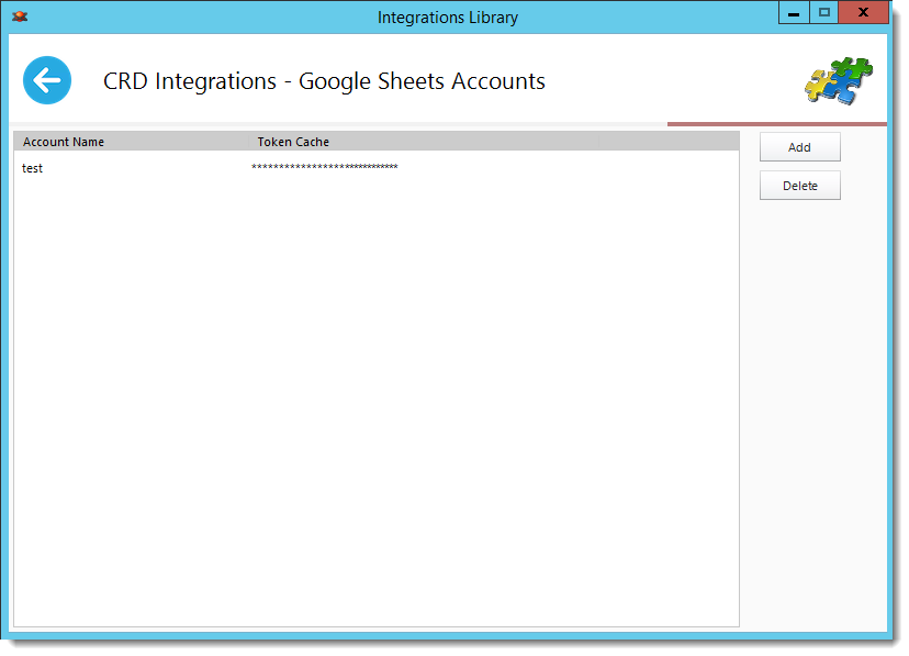 Crystal Reports: Google Sheets in Library Integration in CRD.