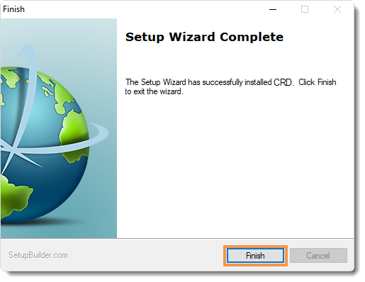 Crystal Reports: Welcome to CRD Setup Wizard.