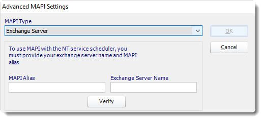 Power BI and SSRS. Email Settings (MAPI) in Options in PBRS