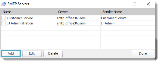 SSRS. SMTP Servers in SQL-RD.