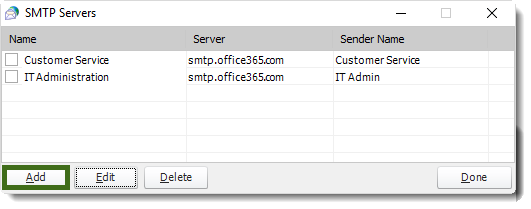 MS Access: SMTP Servers in MARS.
